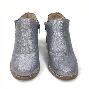 Hanna Andersson Shoes - Hanna Andersson Silver Glitter Krista Ankle Boot